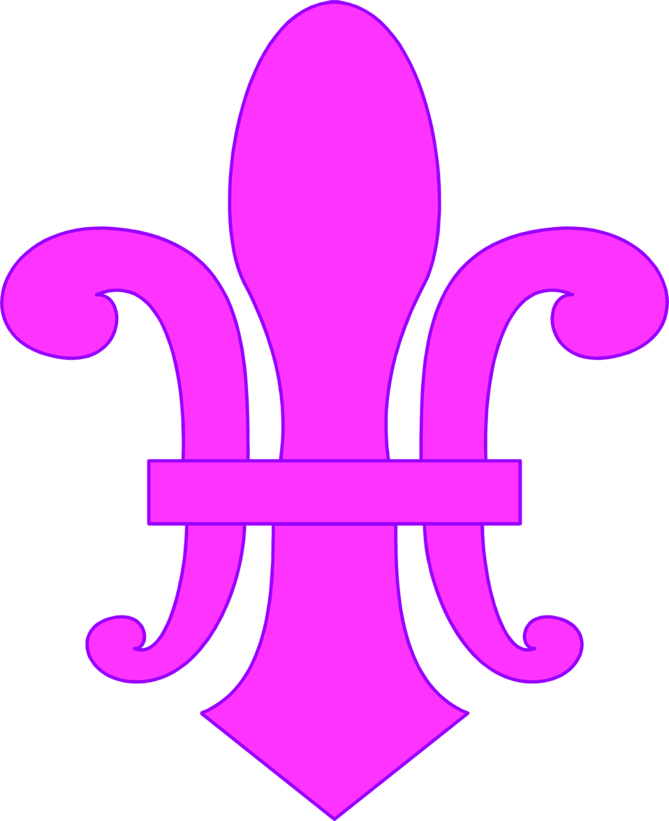Illustration of a purple fleur-de-lys : Free Stock Photo