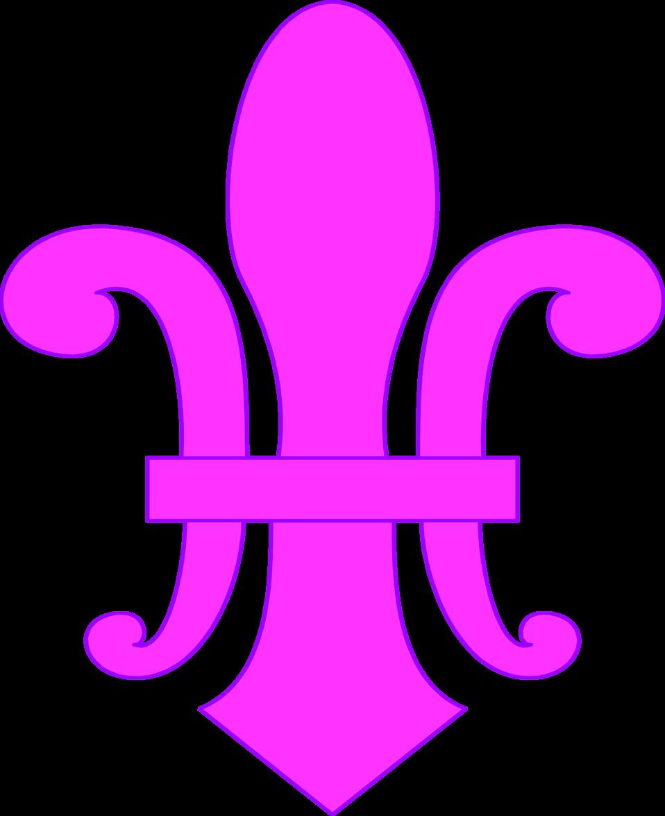 Illustration of a purple fleur-de-lys : Free Stock Photo