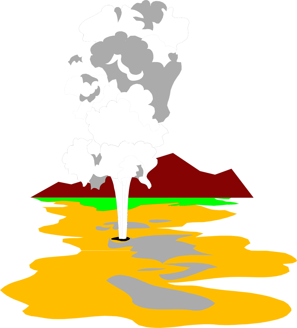 Illustration of Old Faithful : Free Stock Photo