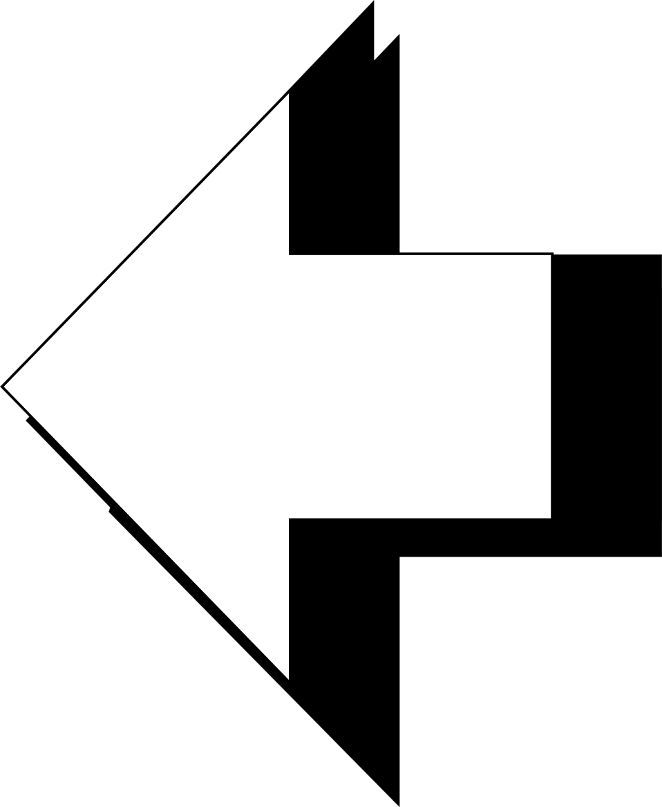 Illustration of a 3d left arrow : Free Stock Photo
