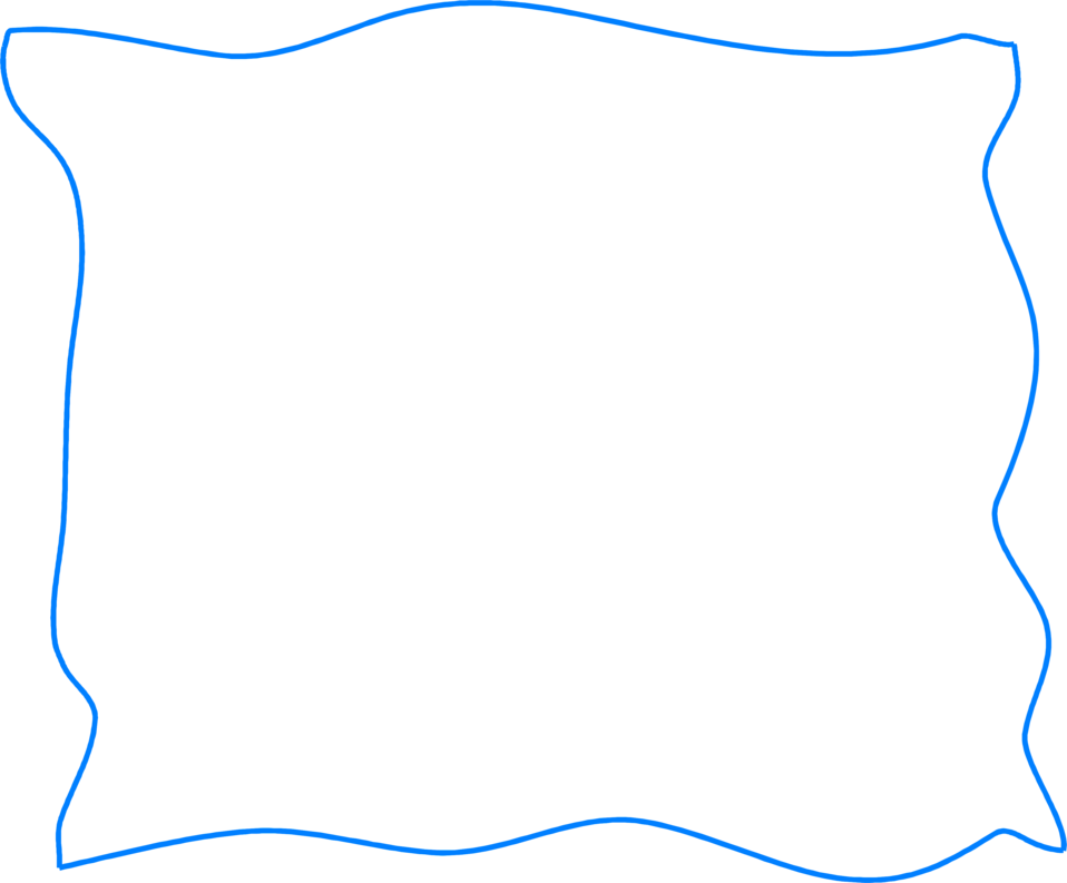 Illustration of a squiggly blue border : Free Stock Photo