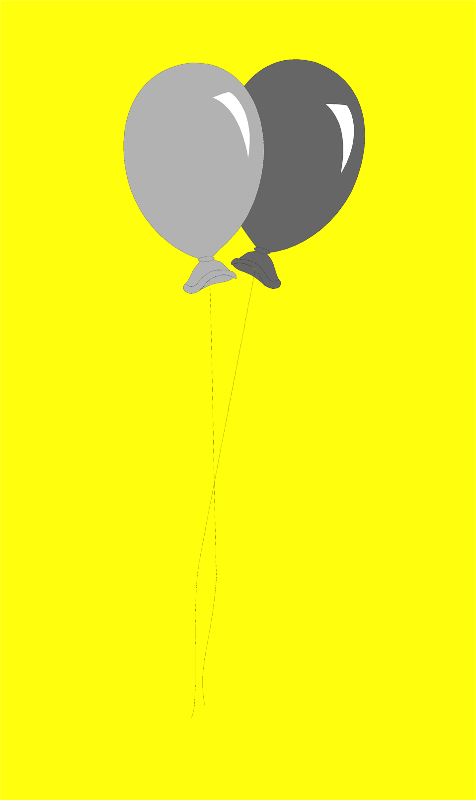 Illustration of two balloons : Free Stock Photo