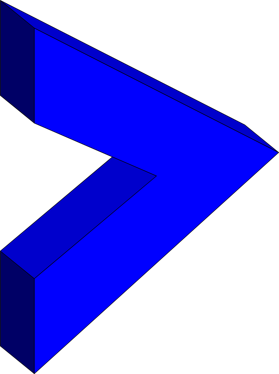 Illustration of a 3d blue right arrow : Free Stock Photo
