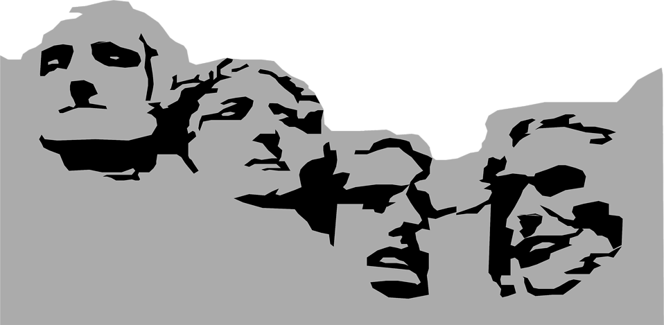 Illustration of Mount Rushmore in South Dakota : Free Stock Photo