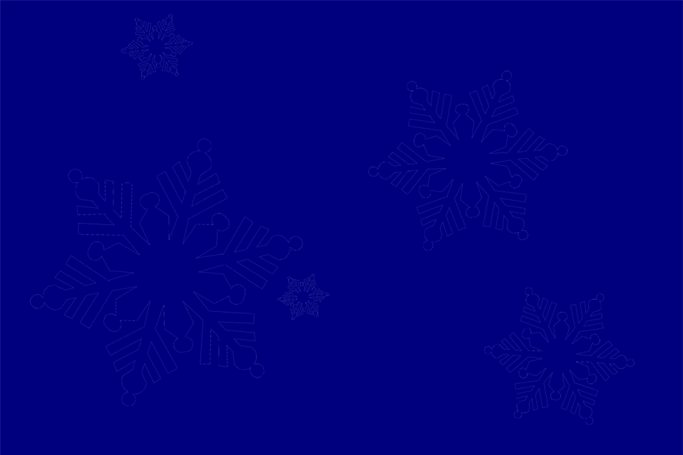 Illustration of snowflakes : Free Stock Photo