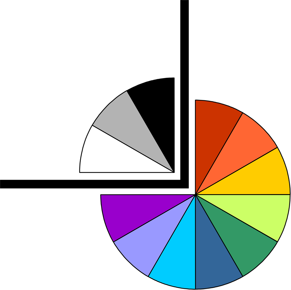 Illustration of a lower right pie chart frame corner : Free Stock Photo