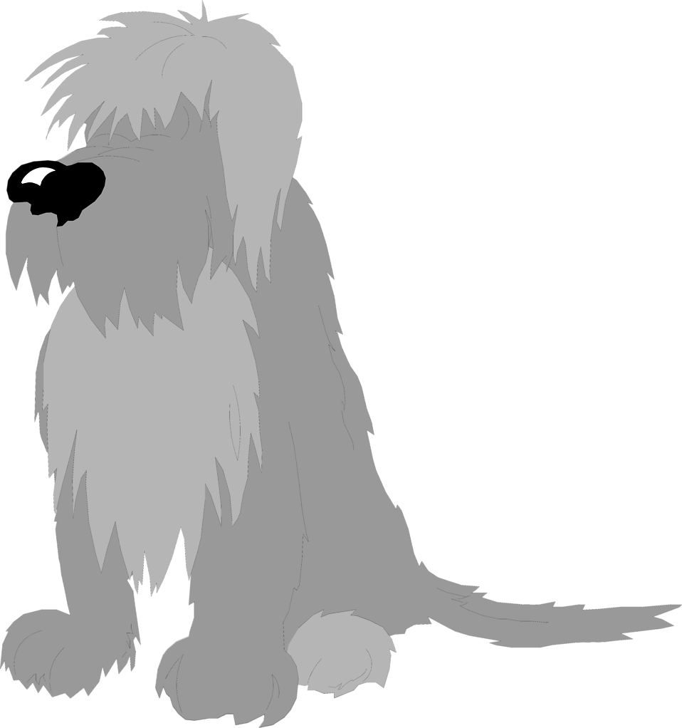Illustration of a shaggy dog : Free Stock Photo