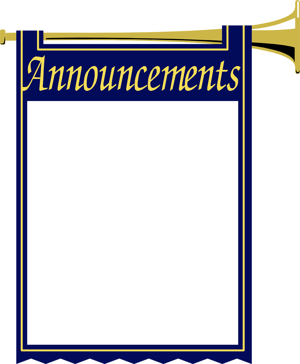 Illustration of a blank announcement frame with horn : Free Stock Photo