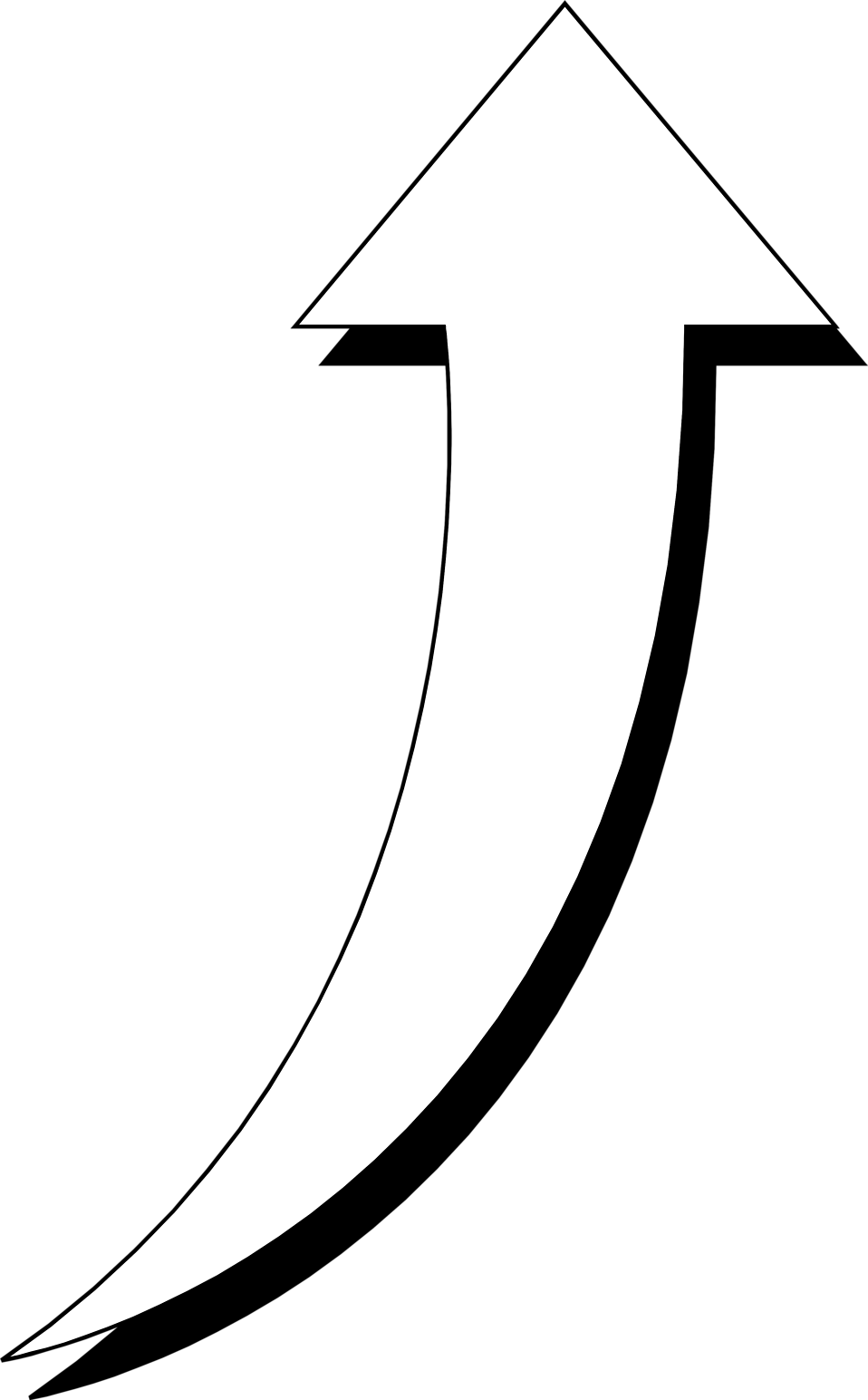 Arrow White | Free Stock Photo | Illustration of a curved ...