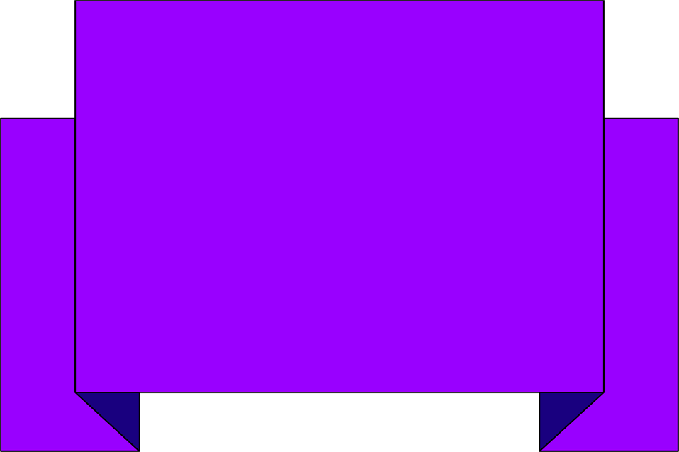 Illustration of a blank purple banner : Free Stock Photo