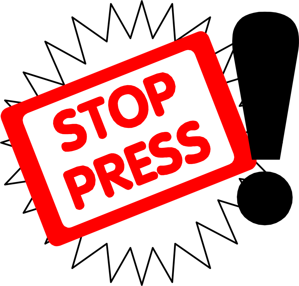 Illustration of stop the press text : Free Stock Photo