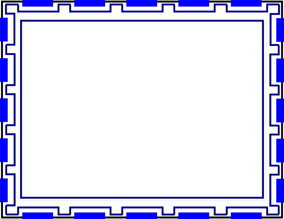 Illustration of a blank blue frame border : Free Stock Photo