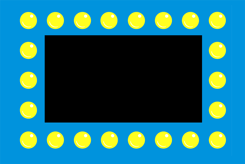Illustration of a blue border with yellow dots : Free Stock Photo