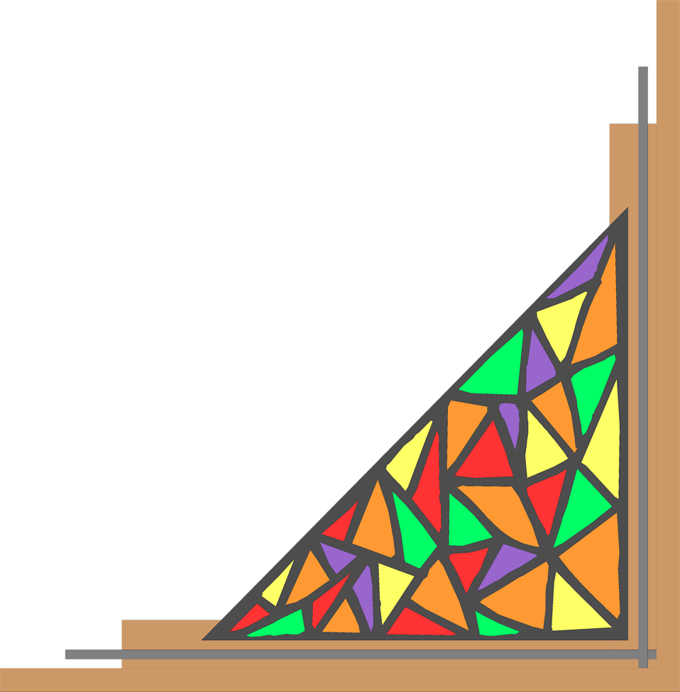Illustration of a lower right stained glass frame corner : Free Stock Photo