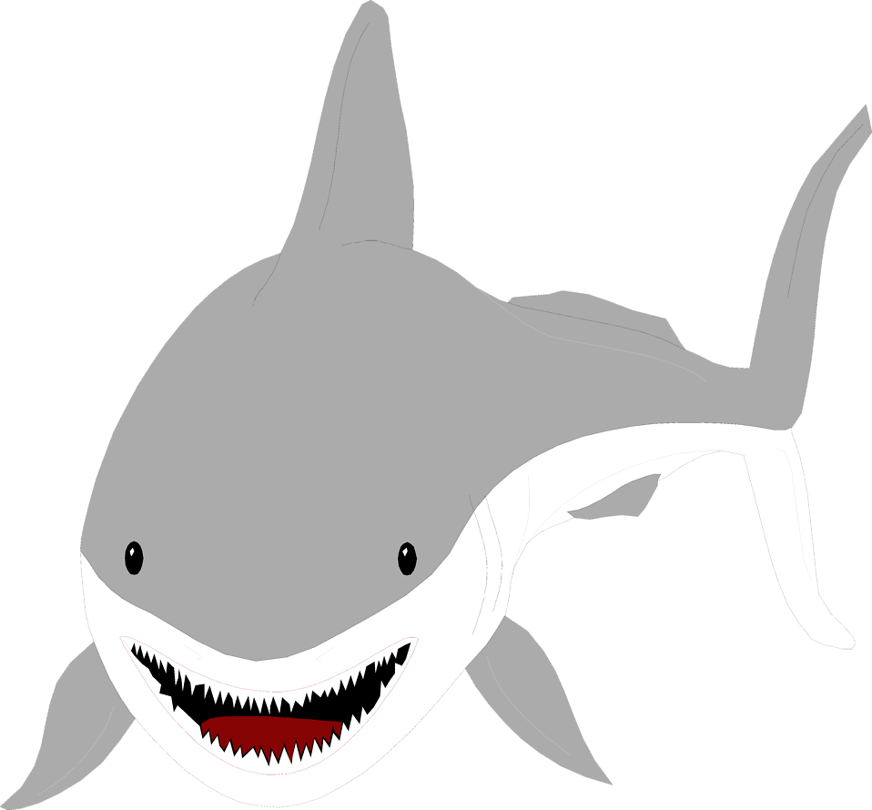 Illustration of a great white shark : Free Stock Photo