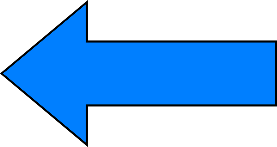 Illustration of a blue left facing arrow : Free Stock Photo