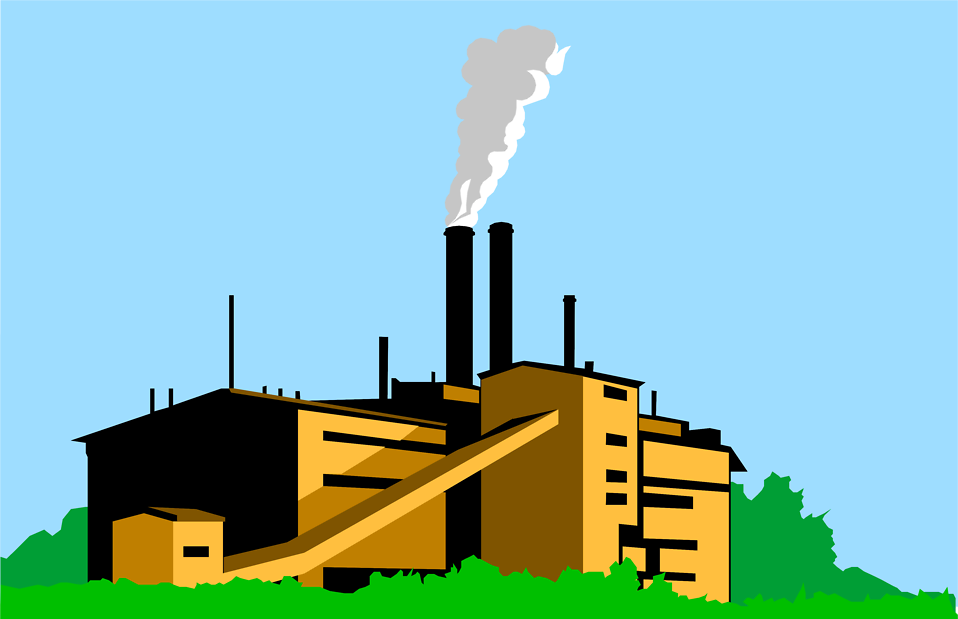Illustration of a factory : Free Stock Photo