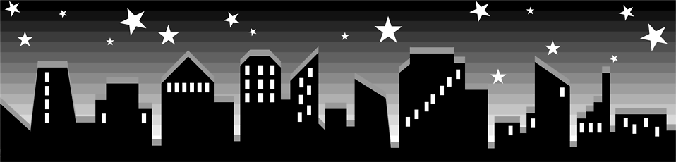 Illustration of a city skyline.