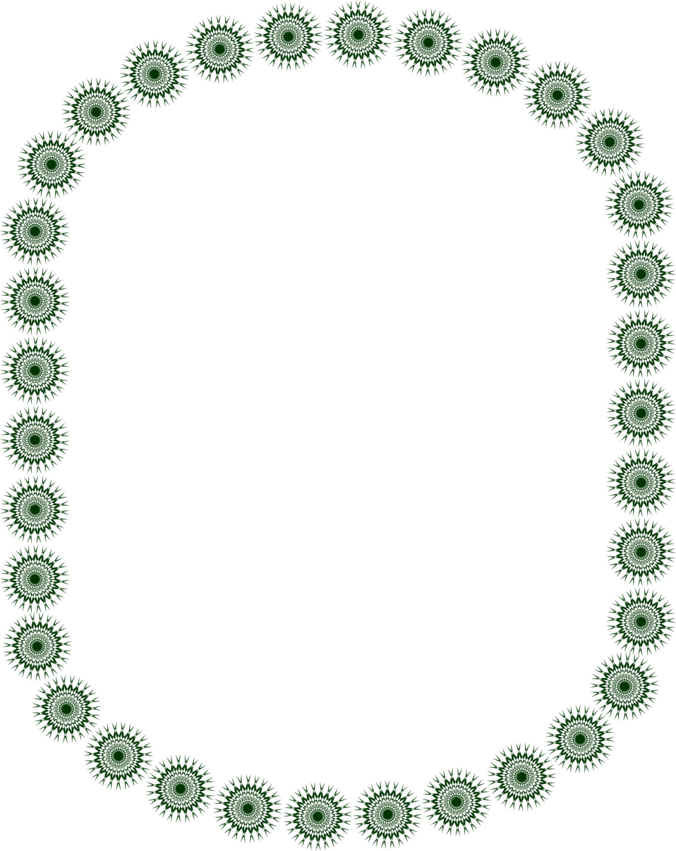 Illustration of a blank border of green star shapes : Free Stock Photo