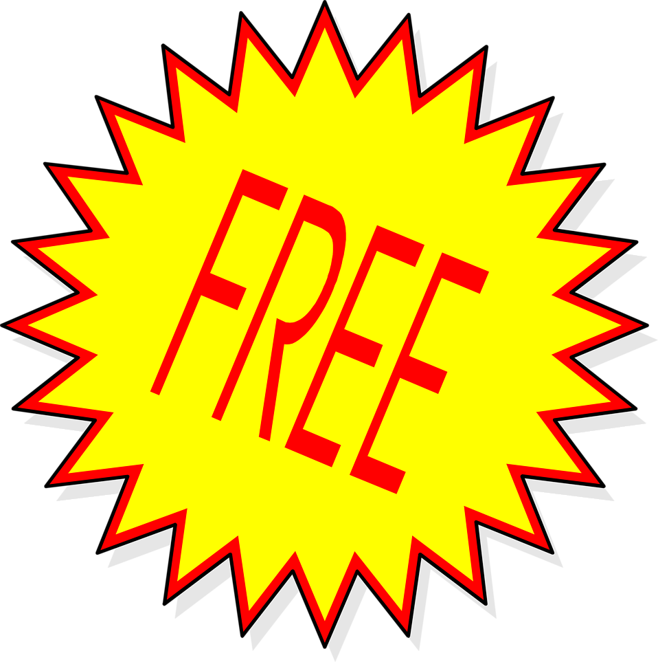 Illustration of a yellow free sticker : Free Stock Photo