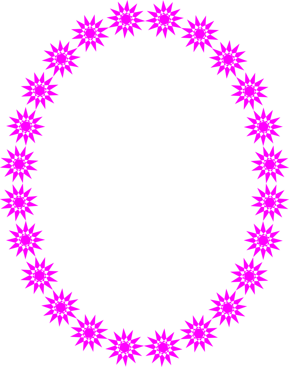Illustration of a blank frame border of purple stars : Free Stock Photo