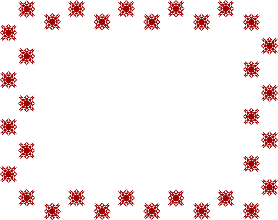 Illustration of a blank frame border of red stars : Free Stock Photo