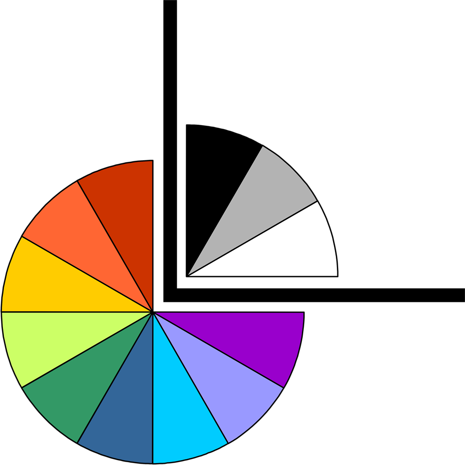 Illustration of a lower left pie chart frame corner : Free Stock Photo