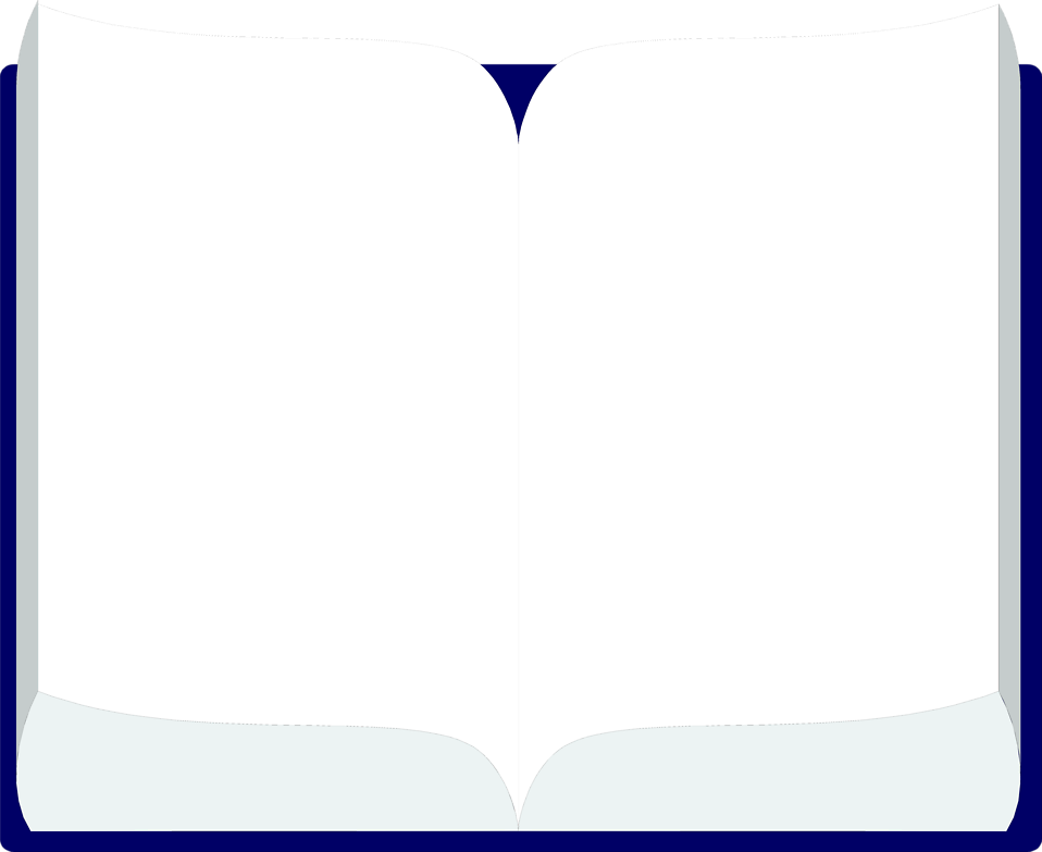 Illustration of a blank open book : Free Stock Photo