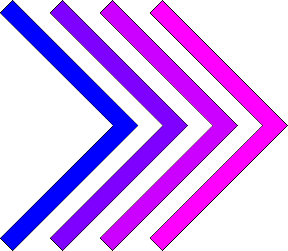 Illustration of blue and purple right arrows : Free Stock Photo