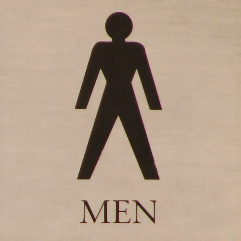 Illustration of a mens restroom sign : Free Stock Photo