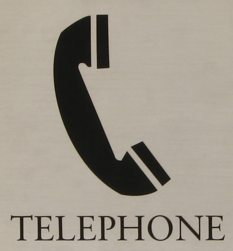 Illustration of a telephone with text : Free Stock Photo