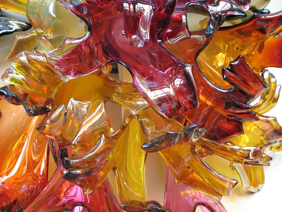Closeup of a glass sculpture : Free Stock Photo