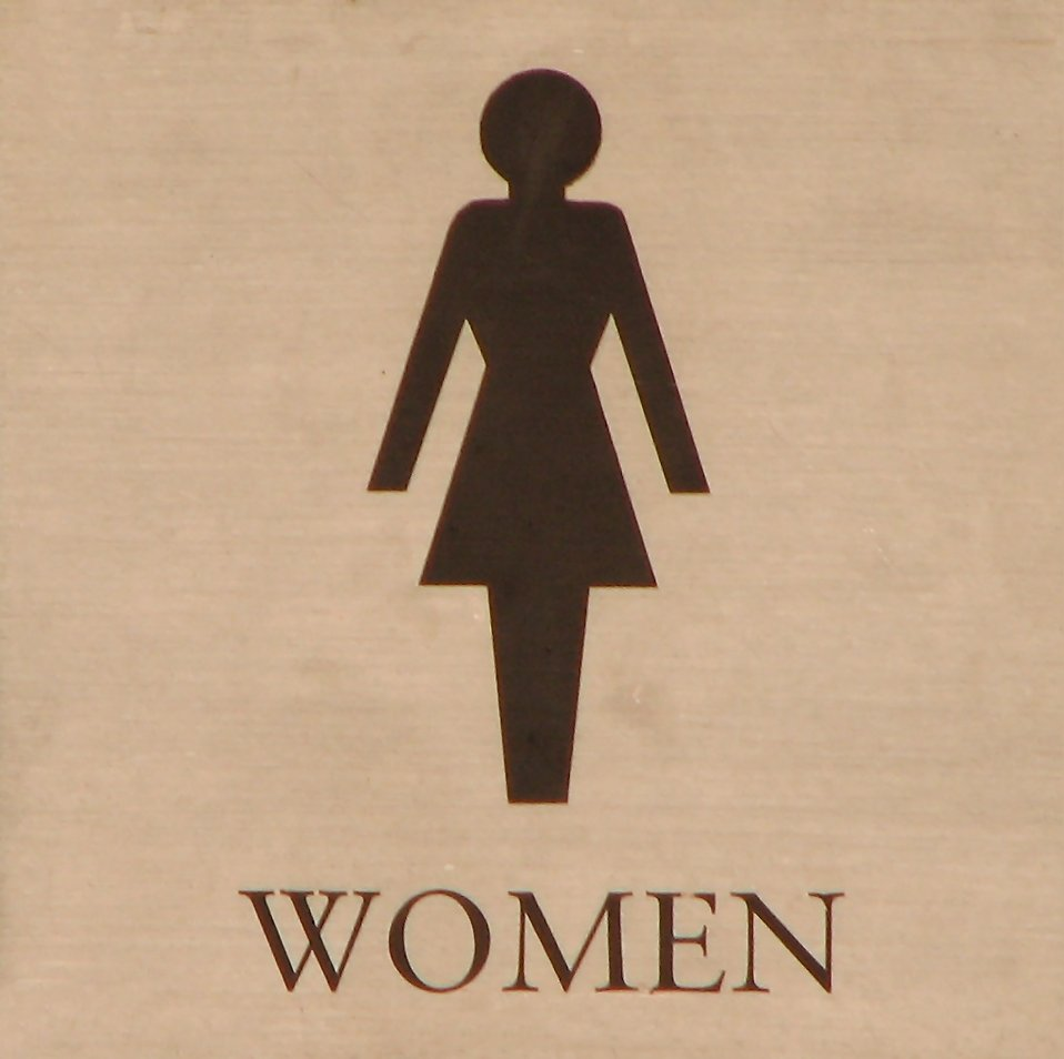 Illustration of a womens restroom sign : Free Stock Photo