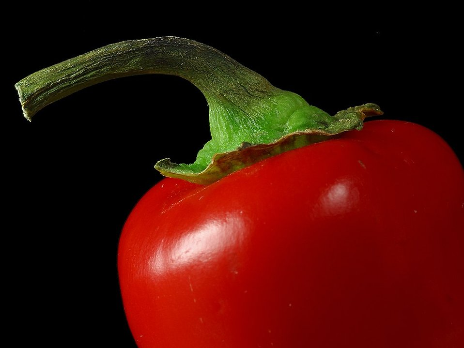 Close up of a red pepper : Free Stock Photo
