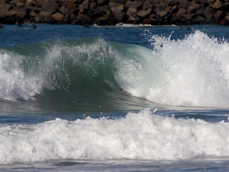 Close up of a wave in the ocean : Free Stock Photo