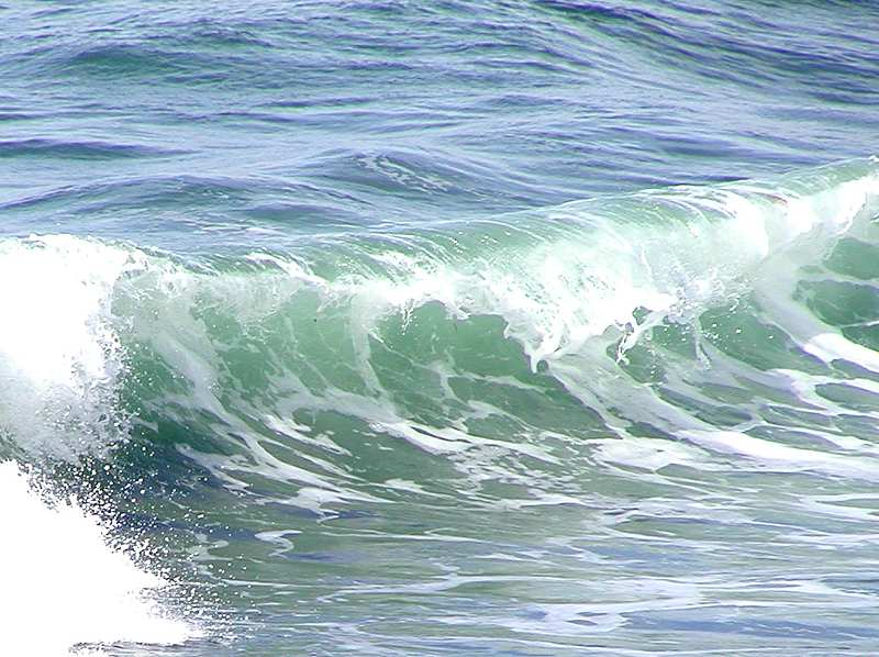 Closeup of an ocean wave : Free Stock Photo