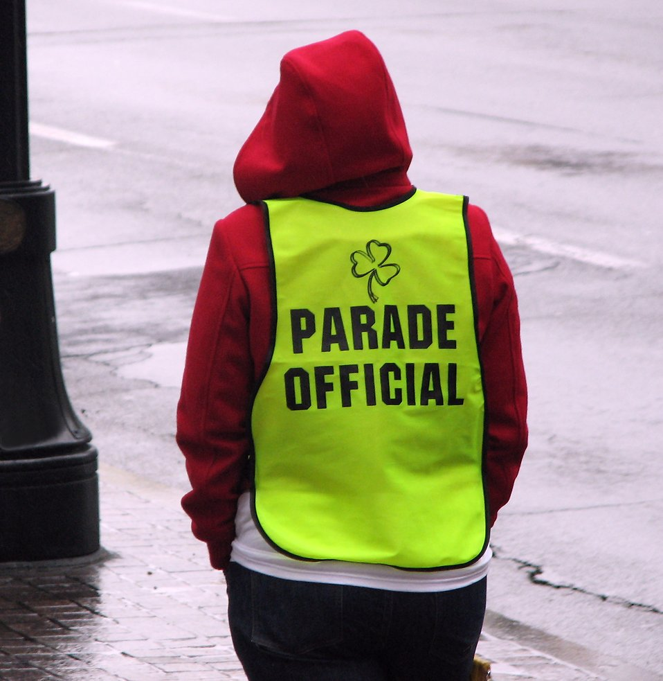 A parade official at the 2009 Atlanta Saint Patricks Day Parade.