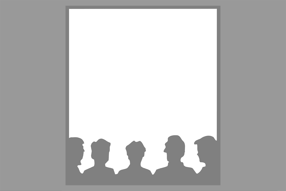 Illustration of a blank frame with people silhouettes : Free Stock Photo
