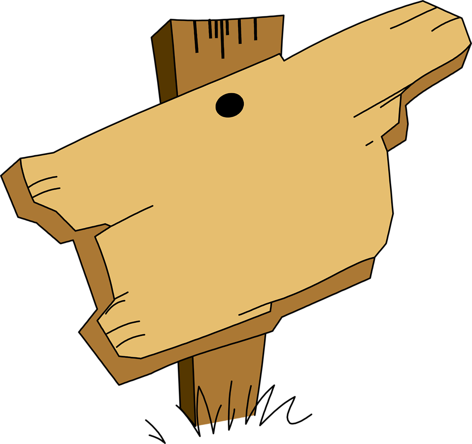 Illustration of a blank wooden sign.