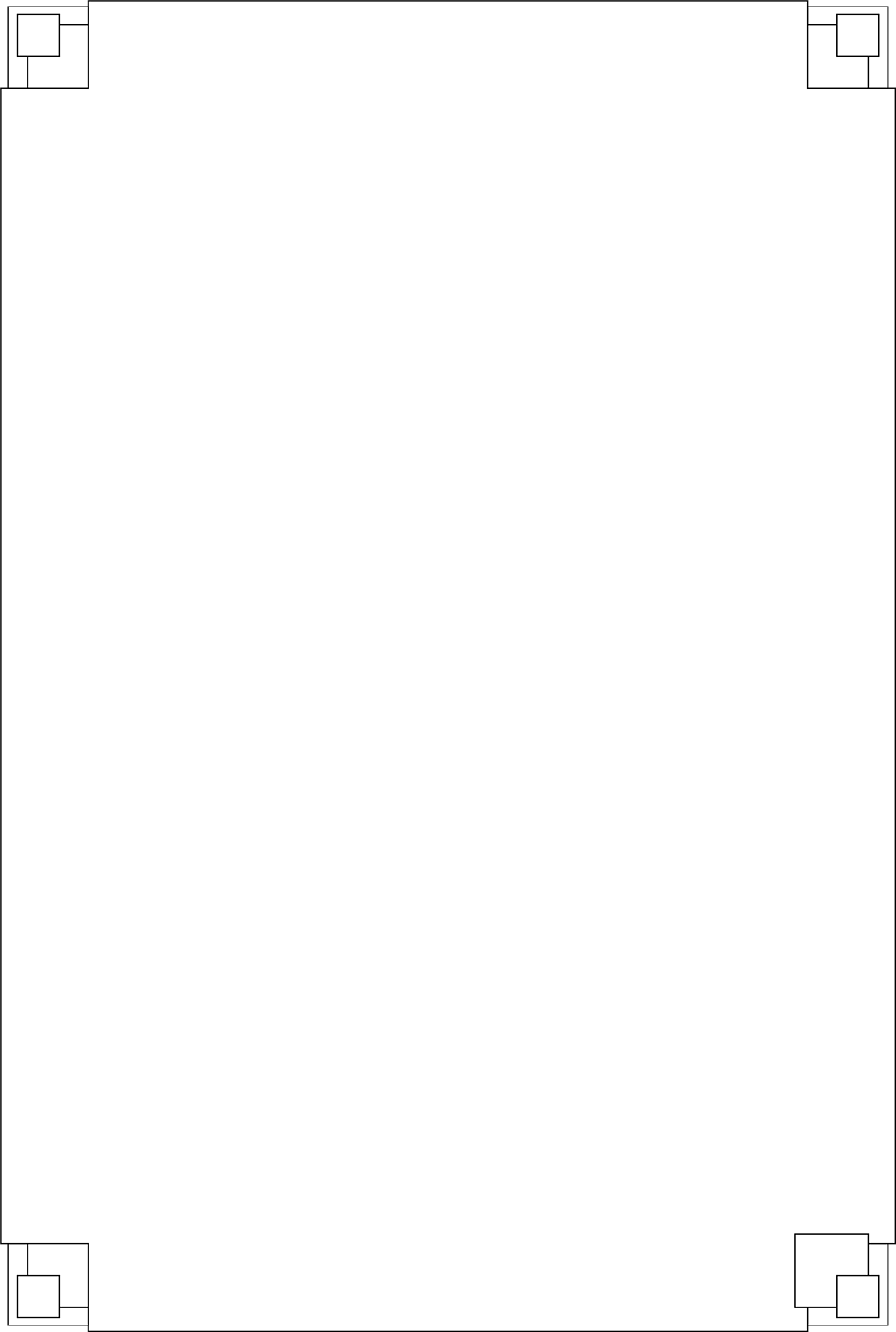 Illustration of a blank frame with square corners : Free Stock Photo