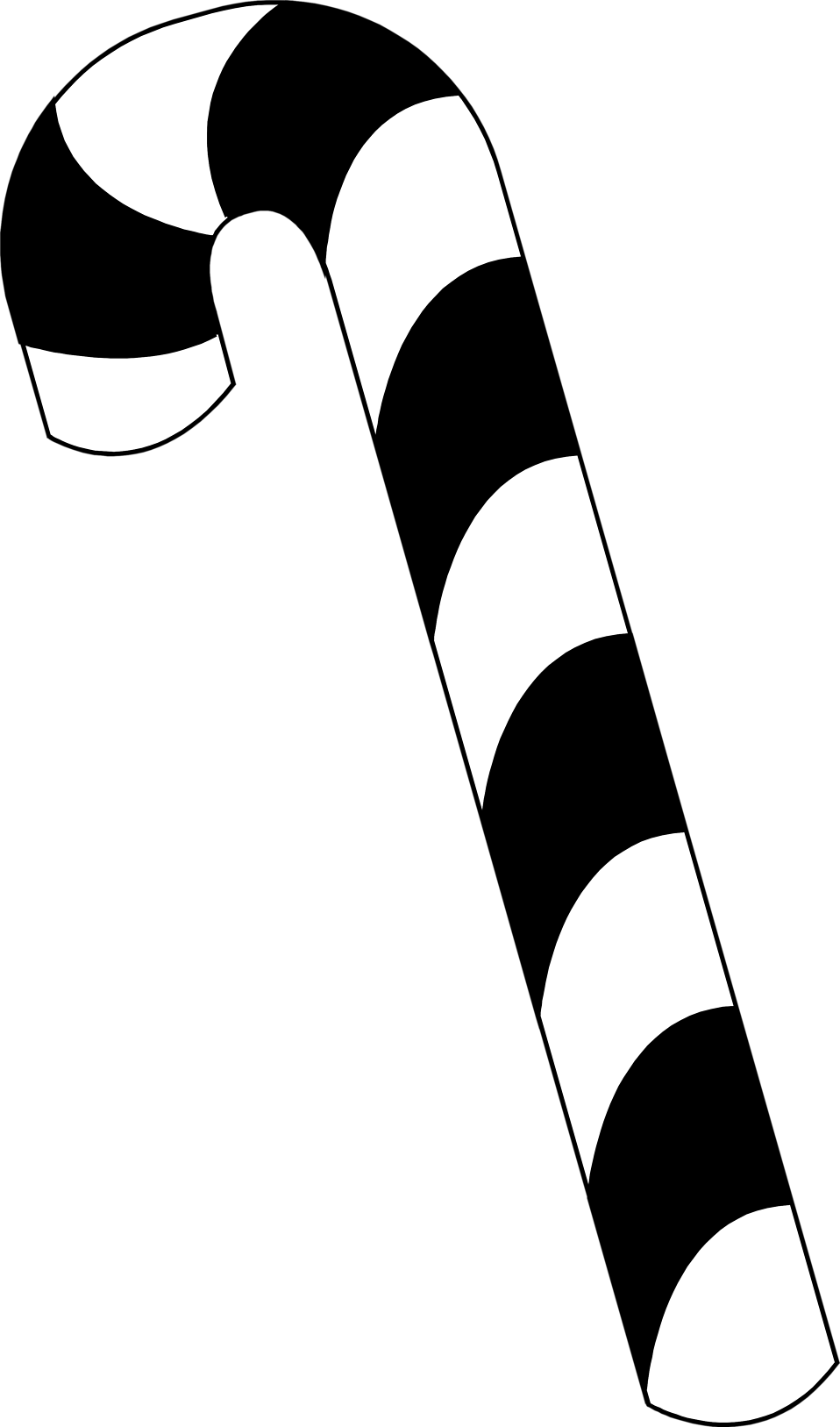 Candy Cane Clip Art Black And White Keywords: black and white,