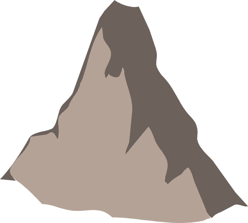Illustration of the Matterhorn mountain peak : Free Stock Photo