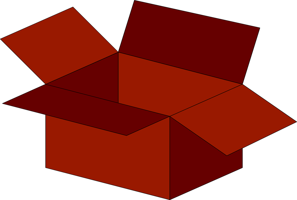 Illustration of an empty red box : Free Stock Photo