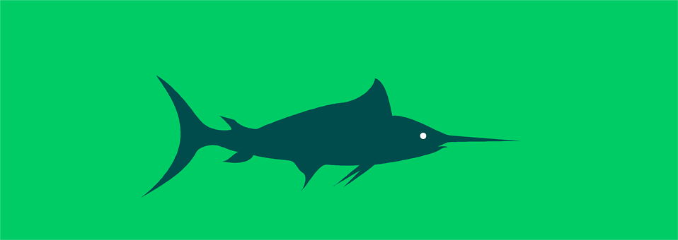 Illustration of a blue marlin : Free Stock Photo
