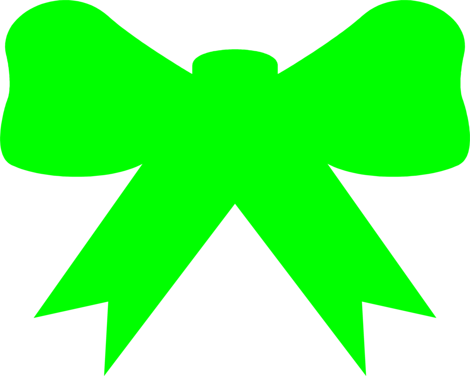 Illustration of a green bow : Free Stock Photo