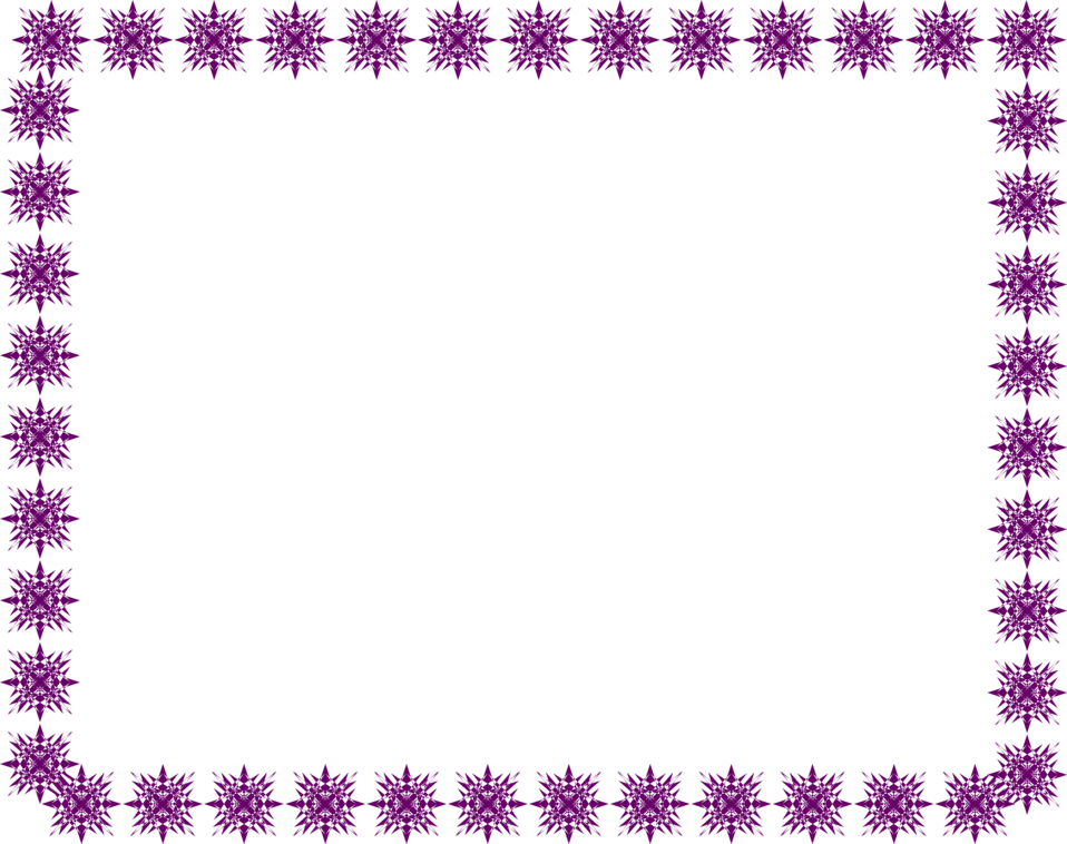 Illustration of a blank frame border of purple star shapes : Free Stock Photo