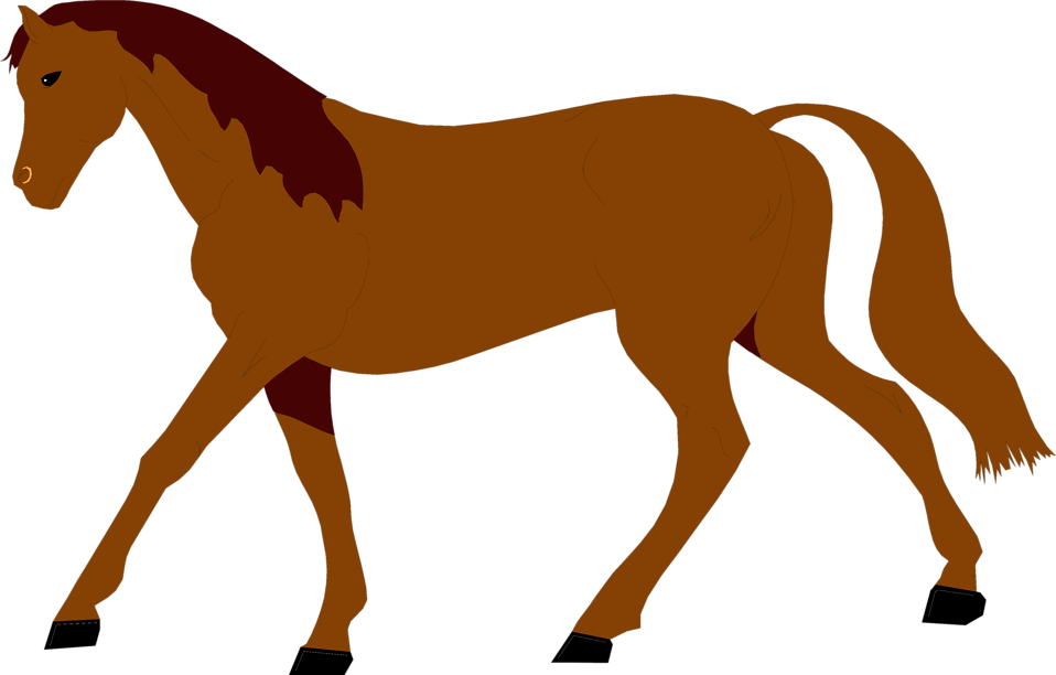 Illustration of a brown horse : Free Stock Photo
