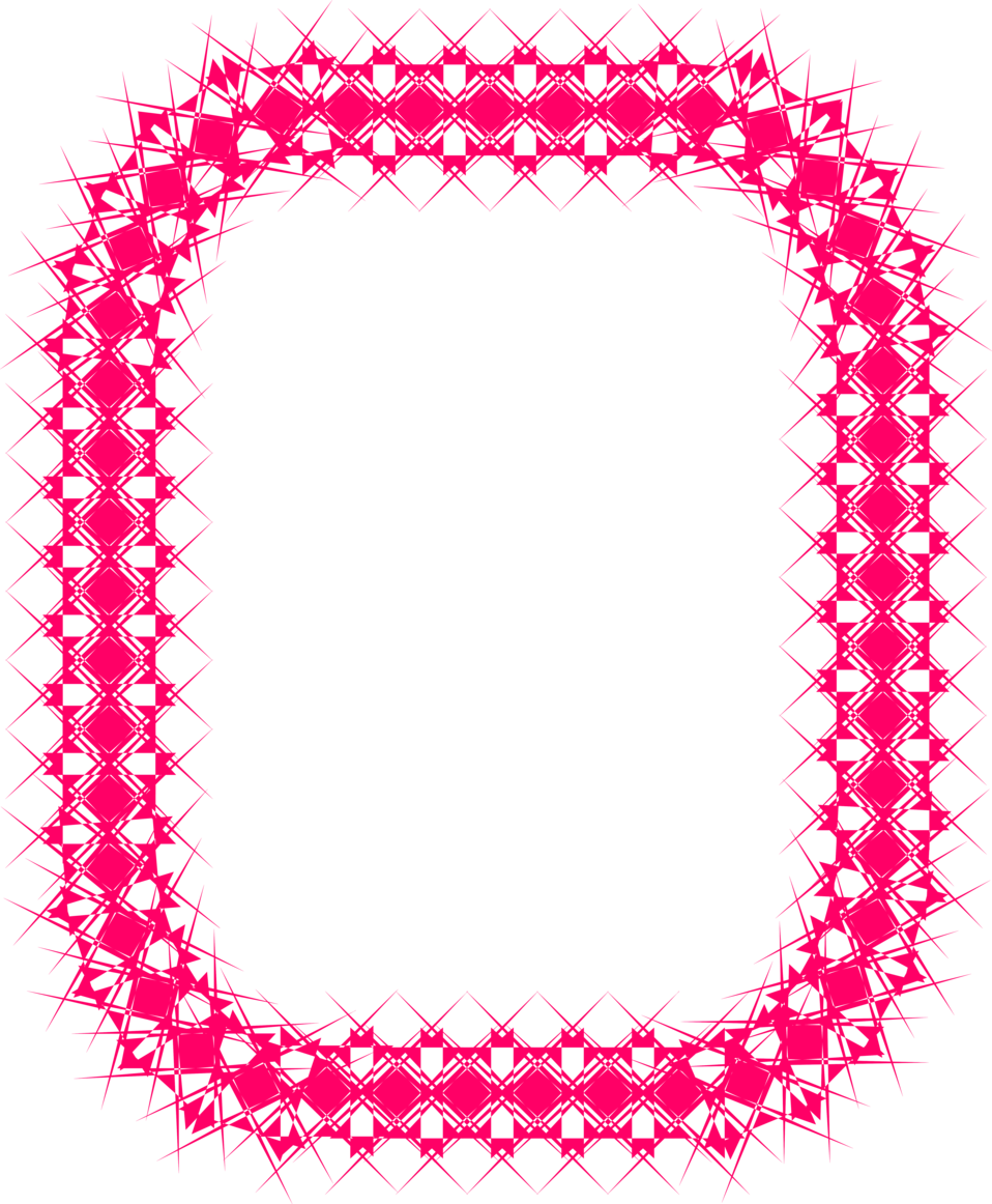 Illustration of a pink blank frame border : Free Stock Photo