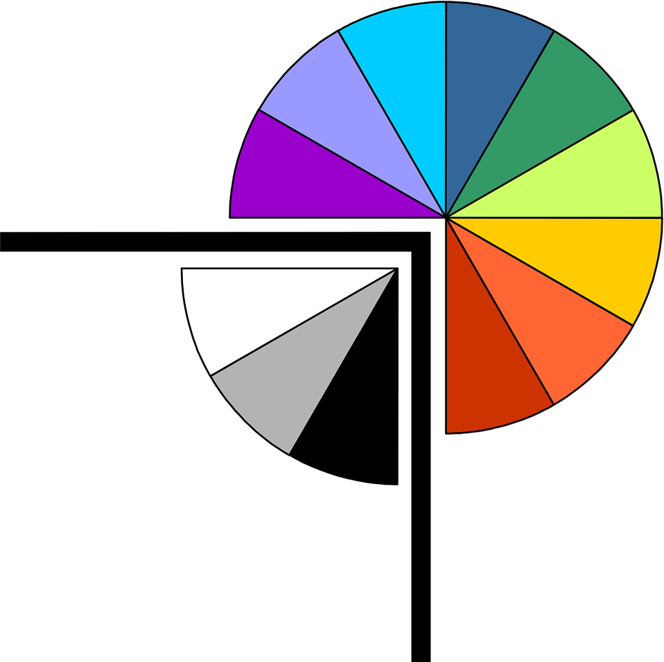 Illustration of a pie chart upper right frame corner : Free Stock Photo