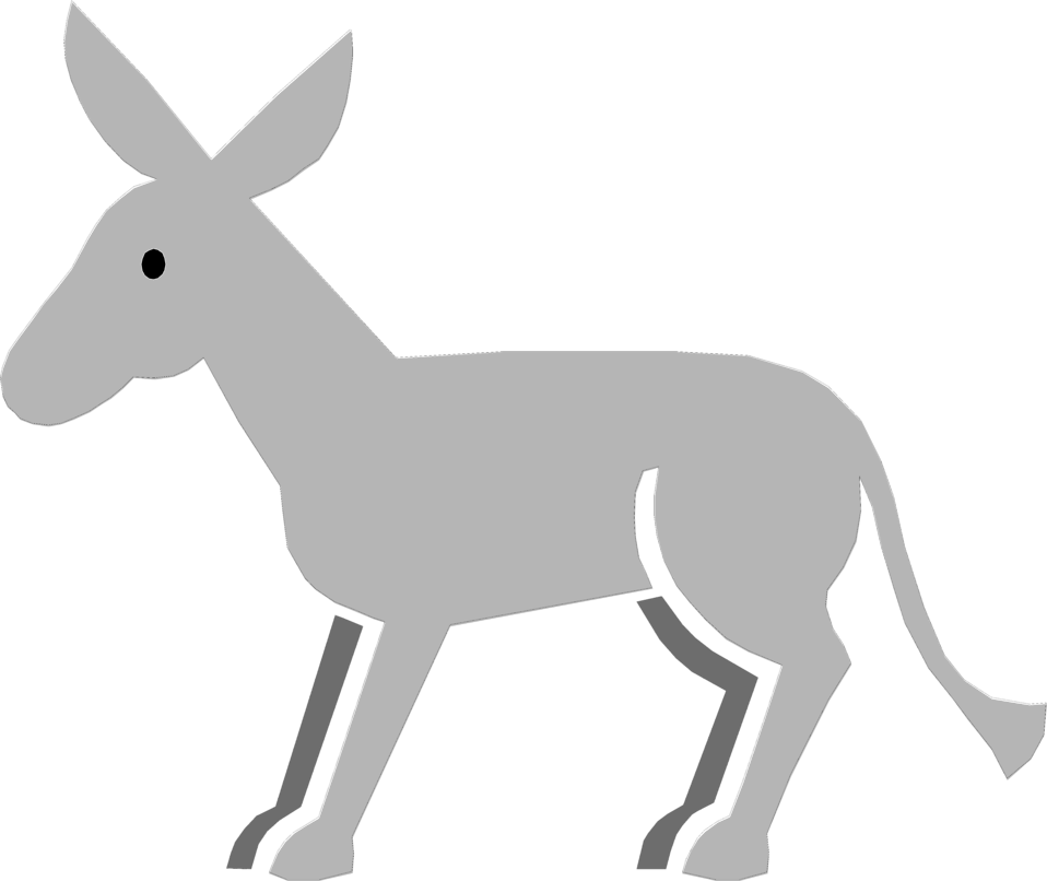 Illustration of a gray donkey : Free Stock Photo